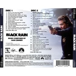 Black Rain Soundtrack (Hans Zimmer) - CD Back cover