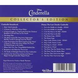 Cinderella Trilha sonora (Mack David, Al Hoffman, Paul J. Smith, Jerry Livingston, Oliver Wallace) - CD capa traseira