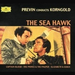 Previn Conducts Korngold : The Sea Hawk / Captain Blood Soundtrack (Erich Wolfgang Korngold) - CD cover
