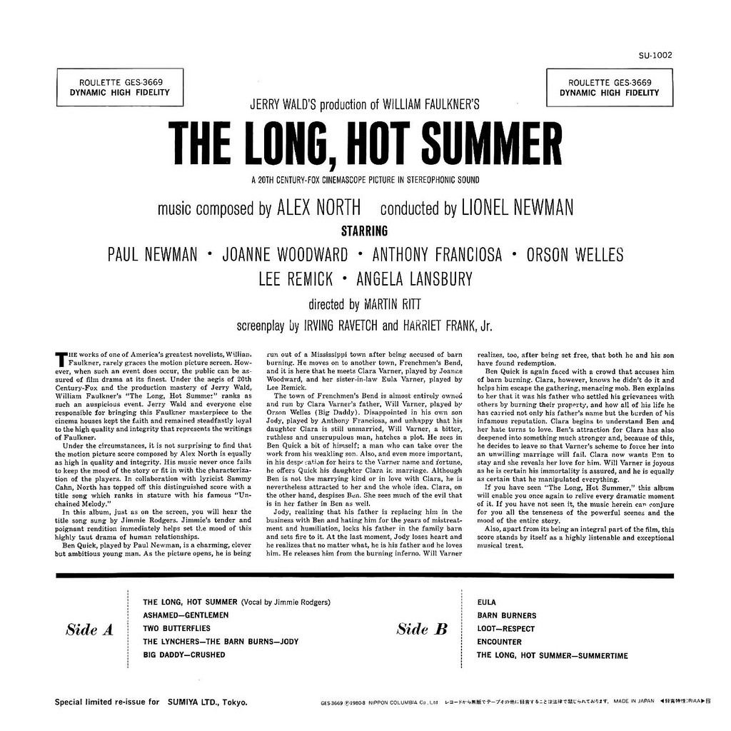 Film Music Site - The Long, Hot Summer Soundtrack (Alex
