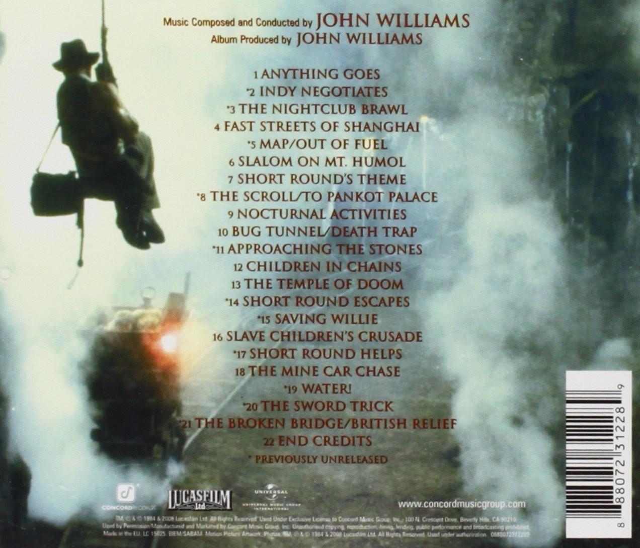 Film Music Site - Indiana Jones and the Temple of Doom