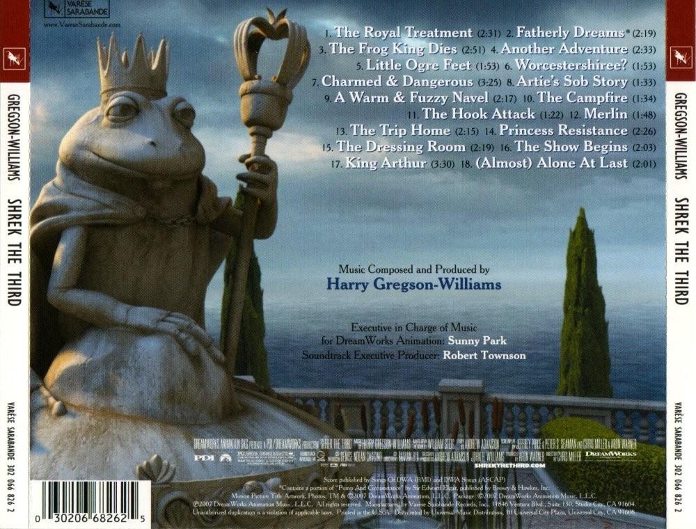 Film Music Site Shrek The Third Soundtrack Harry Gregson Williams Colosseum Varese Sarabande 2007