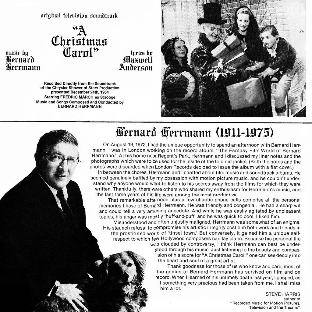 A Christmas Carol Soundtrack.Film Music Site A Christmas Carol Soundtrack Bernard Herrmann