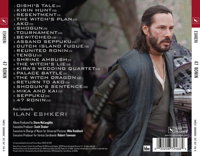 Film Music Site - 47 Ronin Soundtrack (Ilan Eshkeri