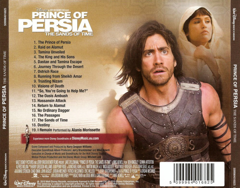 Film Music Site Prince Of Persia The Sands Of Time Soundtrack Harry Gregson Williams Walt Disney Records 2019