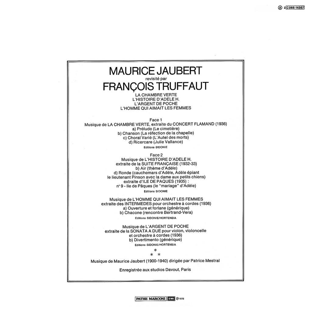 Film Music Site - Maurice Jaubert revisité par François Truffaut ...