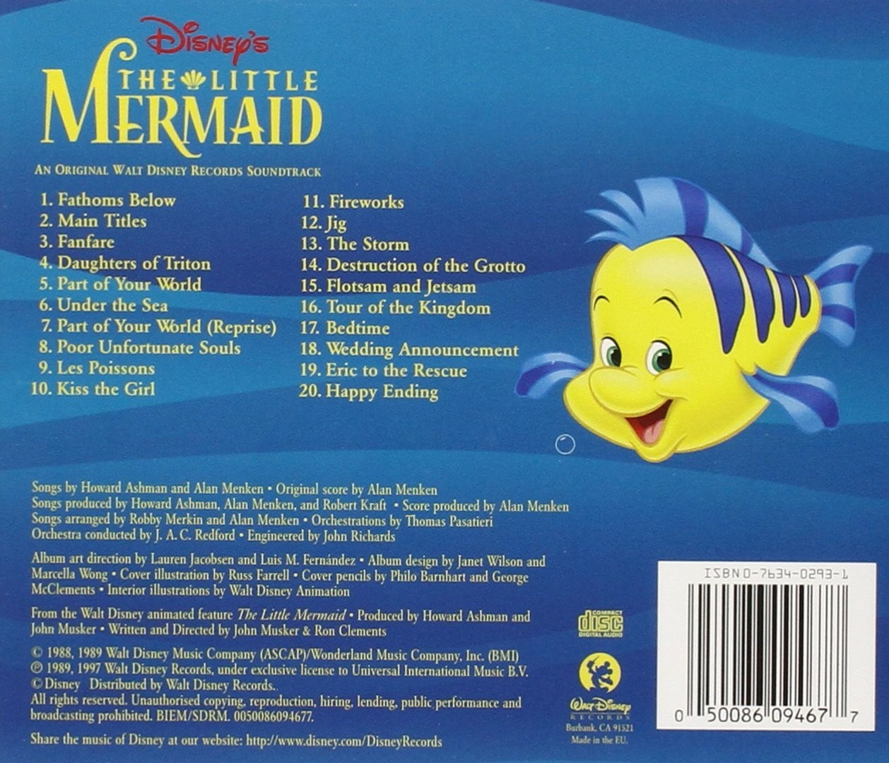 Film Music Site - The Little Mermaid Soundtrack (Various ...