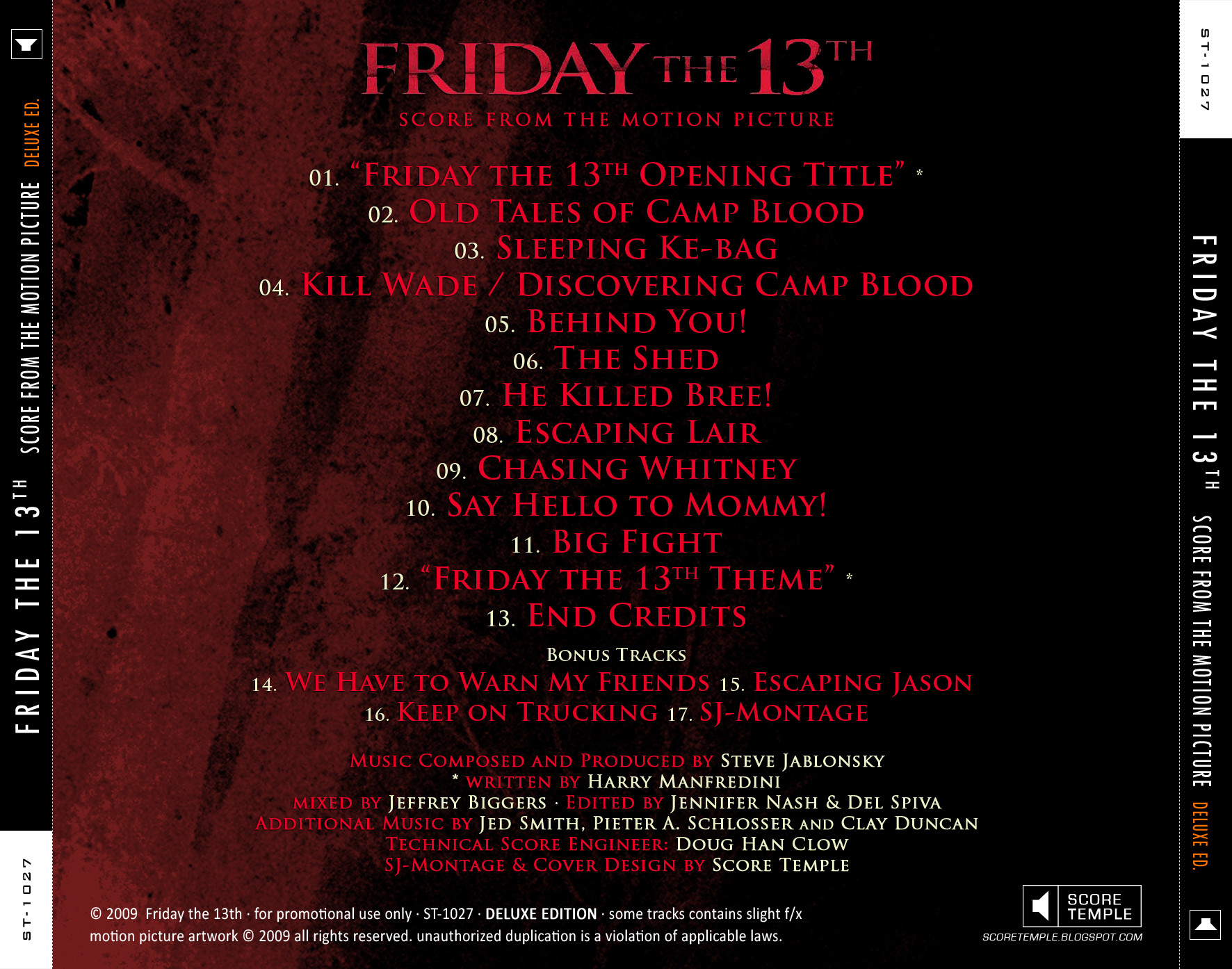 film music site friday the 13th soundtrack steve