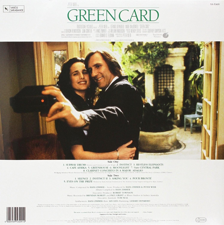 Film Music Site Green Card Soundtrack Hans Zimmer