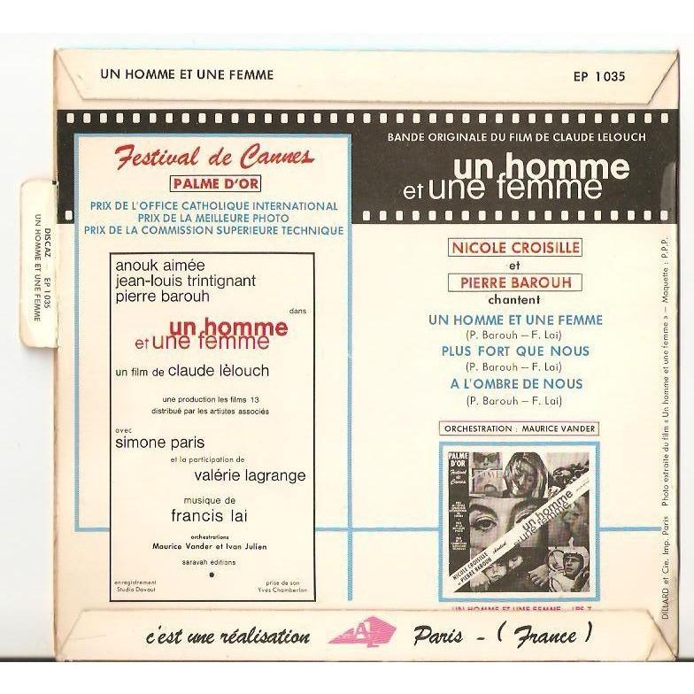 Film Music Site Un Homme Et Une Femme Soundtrack Francis