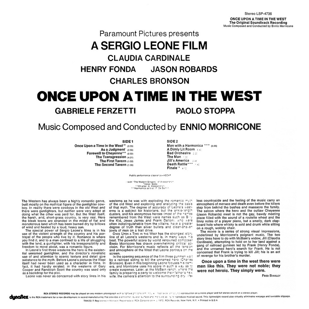 Once upon a Time in the West (Spiel mir das Lied vom Tod) [SOUNDTRACK] -  Orchestra Ennio Morricone: Amazon.de: Musik