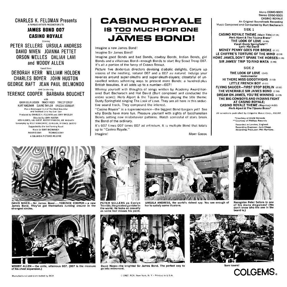 007 casino royale 1967 soundtrack download super casino customer services