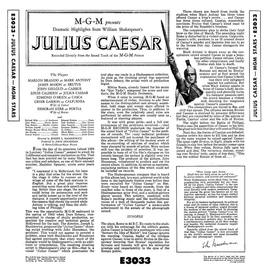 a comparison of achievements between julius caesar and marc anthony