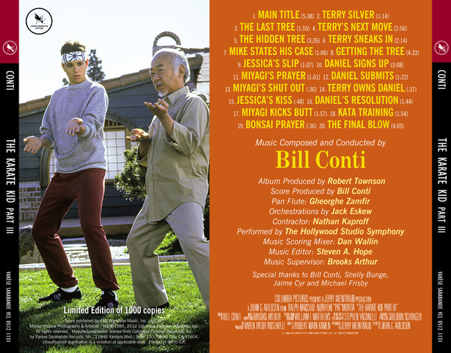 The Karate Kid Score Bill Conti