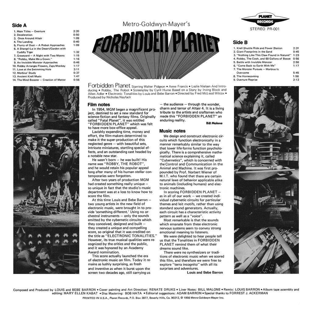 Film Music Site - Forbidden Planet Soundtrack (Bebe Barron