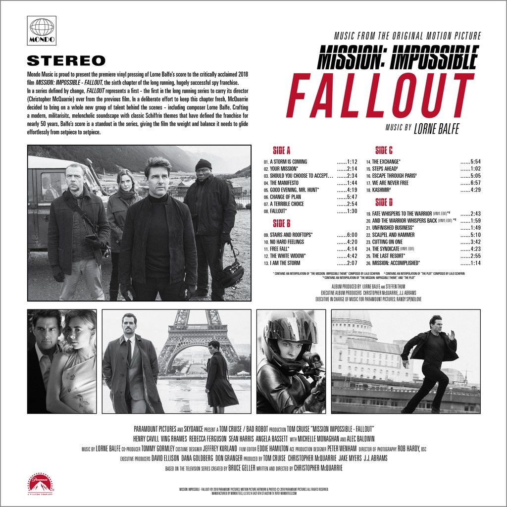 Film Music Site - Mission: Impossible - Fallout Soundtrack