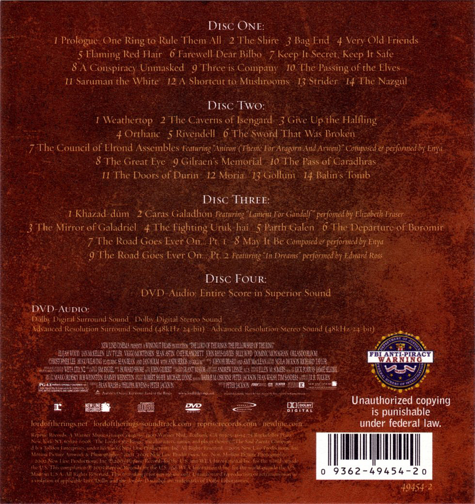 Lord Of The Rings Ost Flac